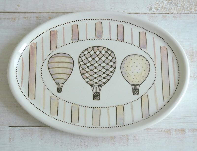 """картинка Тарелка овальная """"Воздушные шары"""" - DishWishes.Ru"""