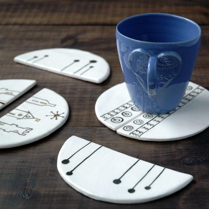 картинка Набор из двух керамических подставок - DishWishes.Ru