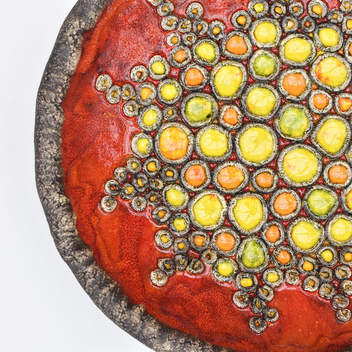 "картинка Большое красное блюдо ""Коралловый риф""  - DishWishes.Ru"