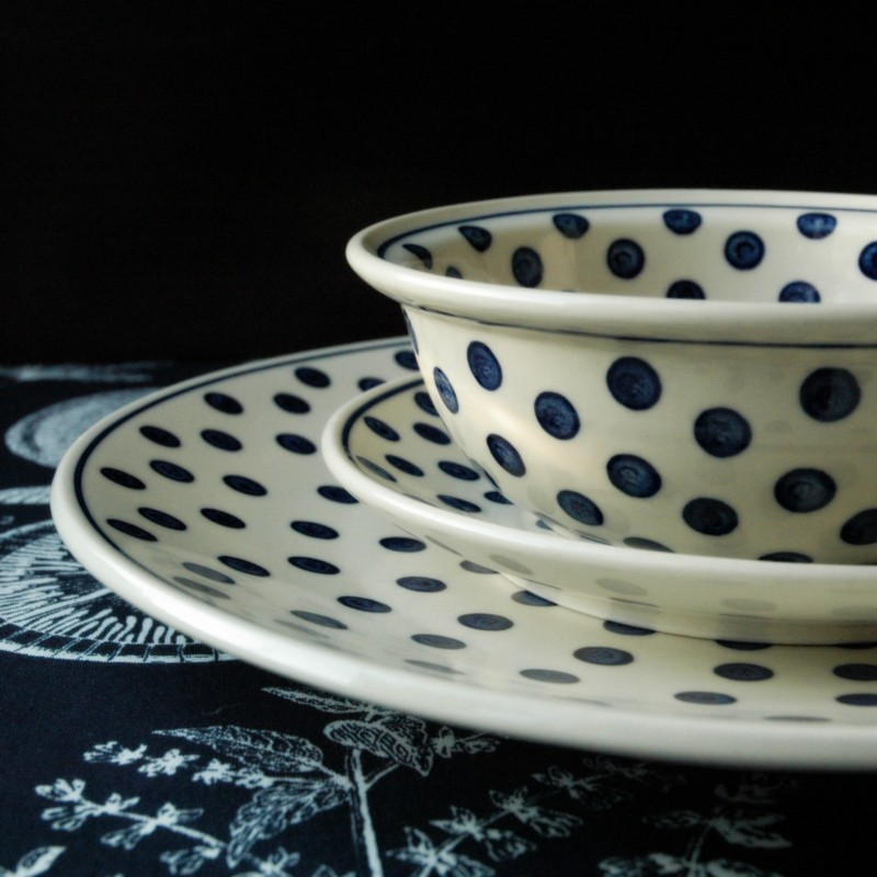 картинка Суповая тарелка в горошек - DishWishes.Ru