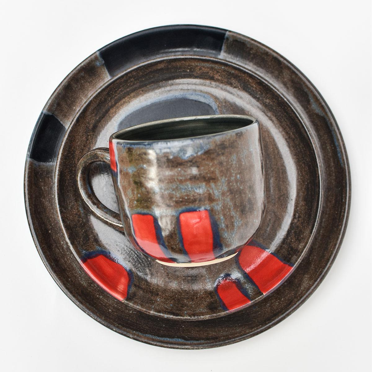 """картинка Керамическая тарелка из темной серии """"Ротко"""" - DishWishes.Ru"""