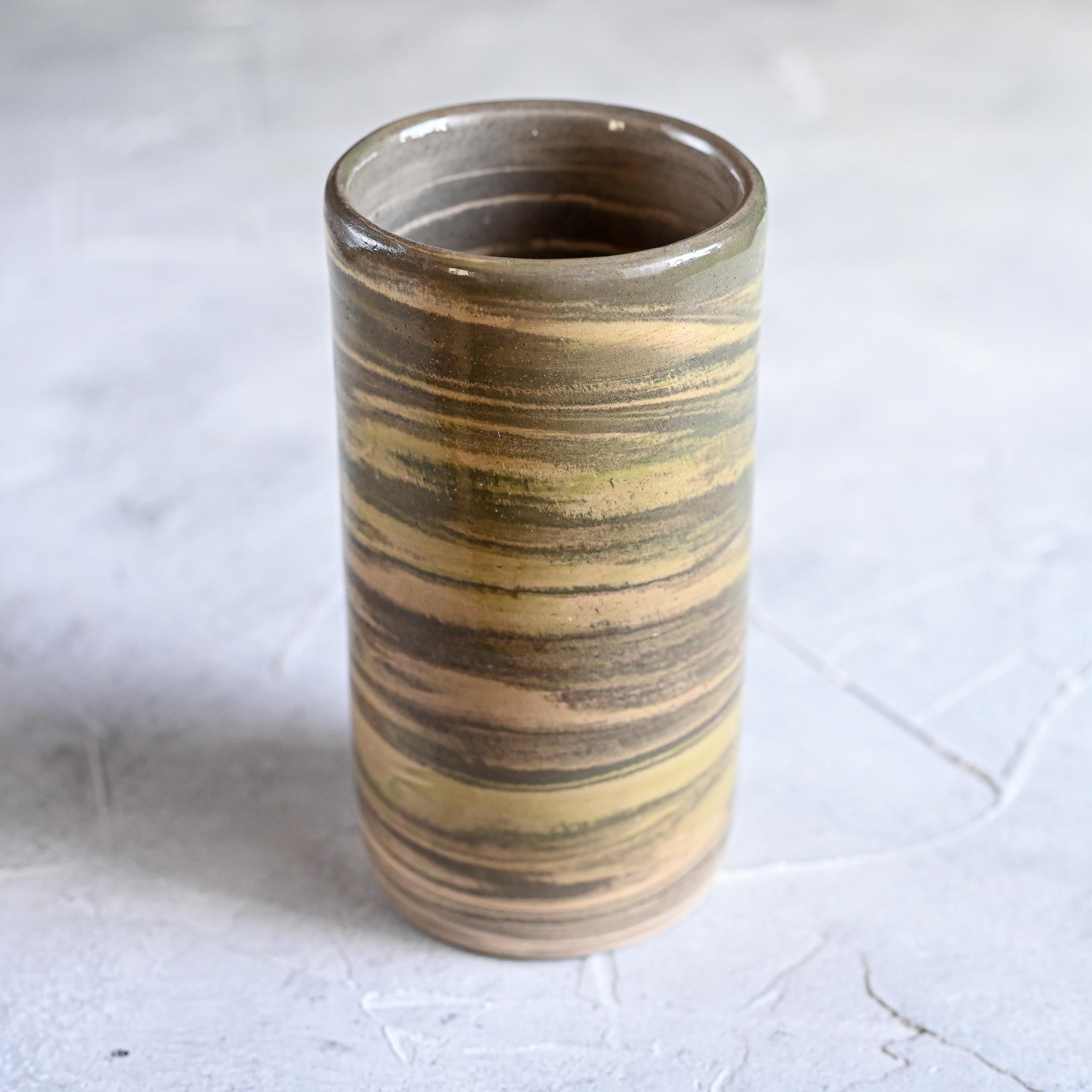 картинка Керамический стакан в технике нерияге 2 - DishWishes.Ru