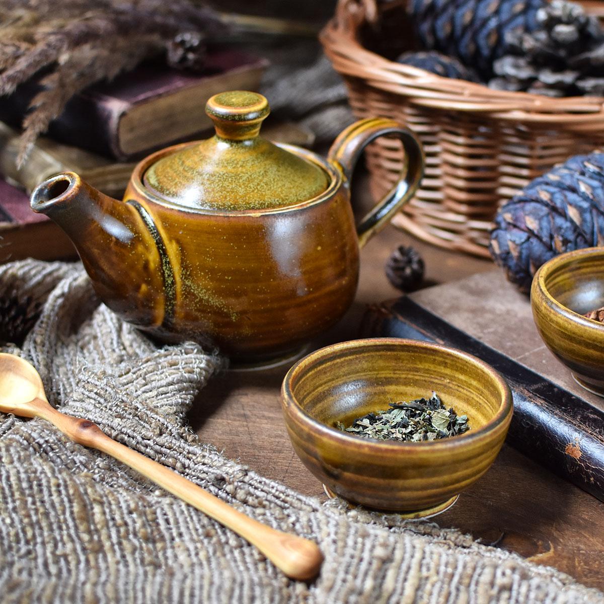 """картинка Набор из чайничка и двух пиал """"Чайная пыль"""" - DishWishes.Ru"""