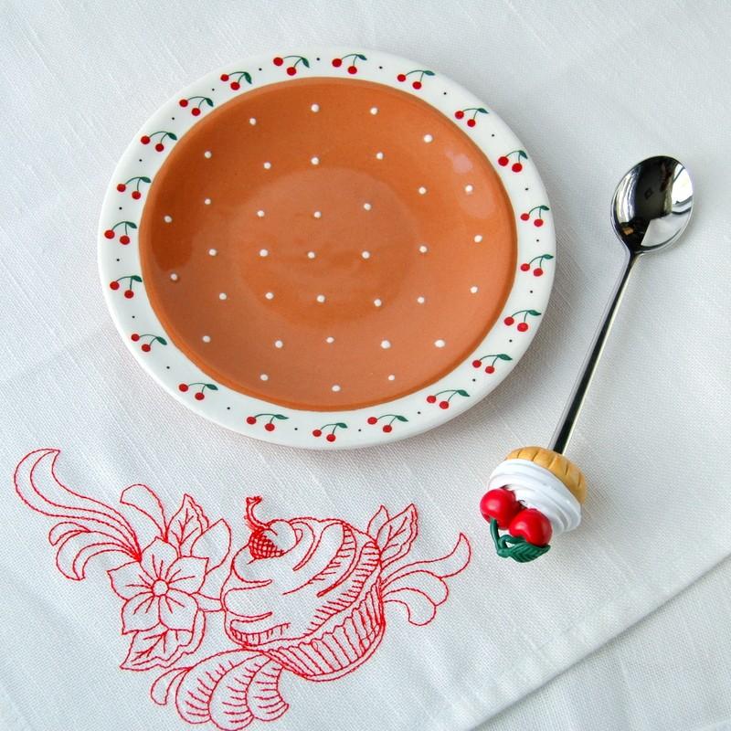 "картинка Блюдце ""Вишневый пирог"" - DishWishes.Ru"