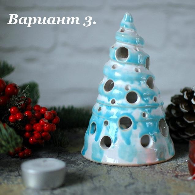 """картинка Подсвечник для греющей свечи """"Голубая ель"""" - DishWishes.Ru"""