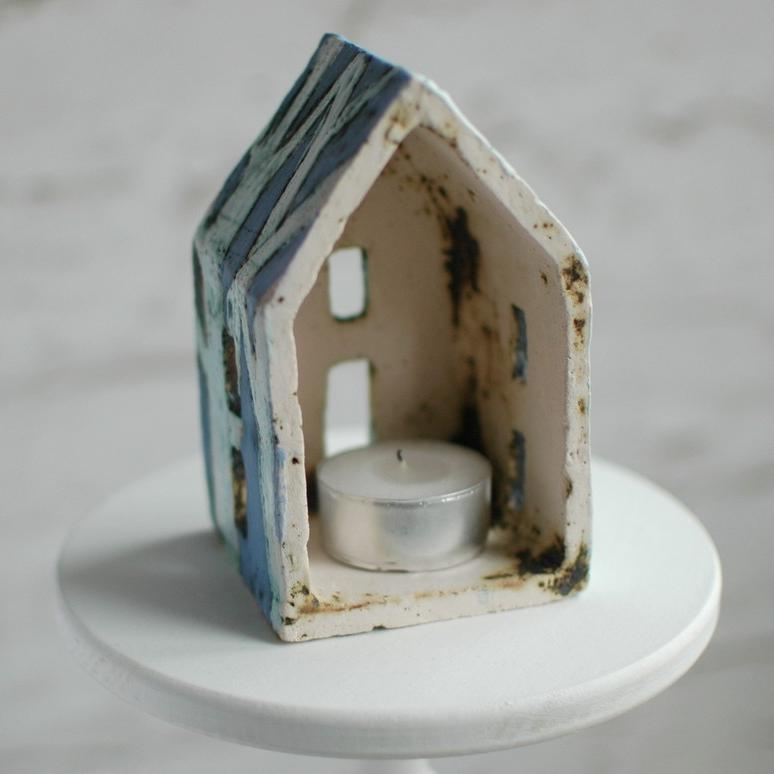 "картинка Керамический домик-подсвечник ""Сумерки"" - DishWishes.Ru"