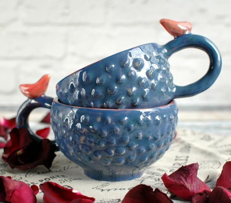 "картинка Чашка с птичкой ""Экзотический фрукт"" - DishWishes.Ru"