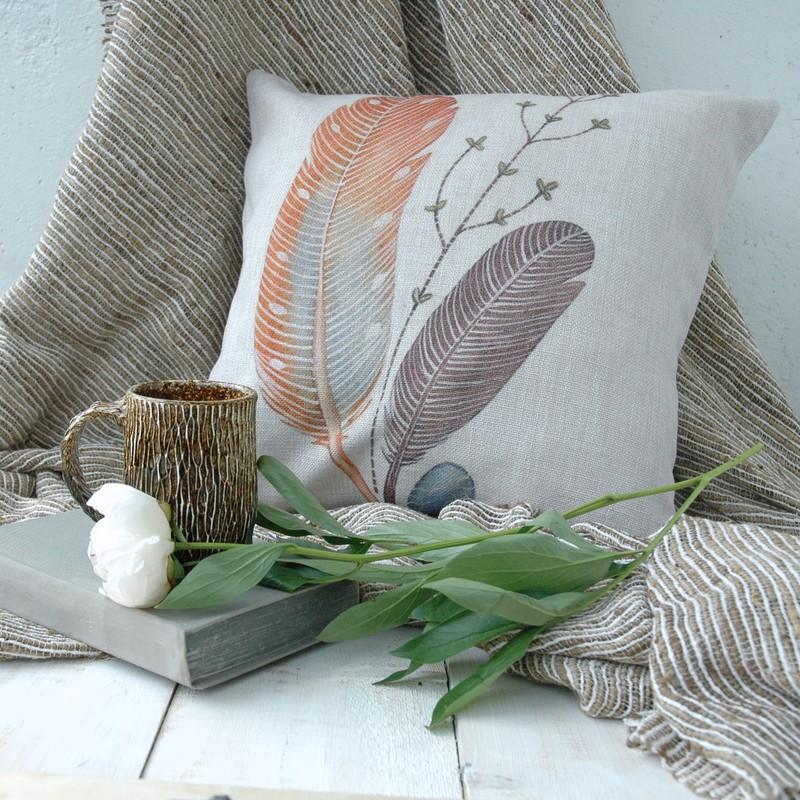 "картинка Чехол на подушку ""Букет перьев"" - DishWishes.Ru"