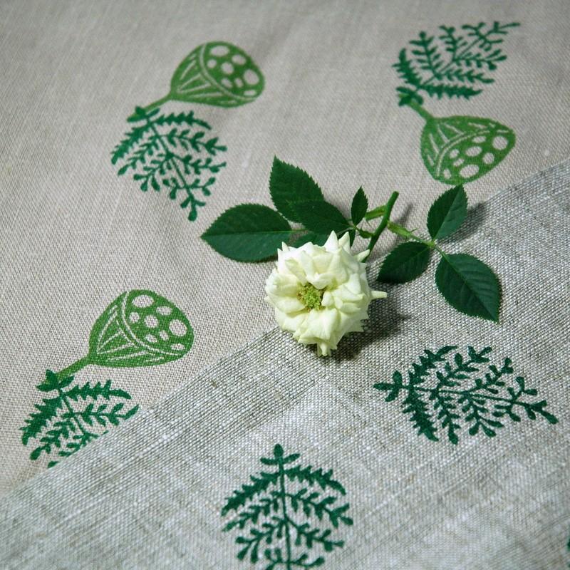 """картинка Чехол для подушки """"Зеленые листья"""" - DishWishes.Ru"""