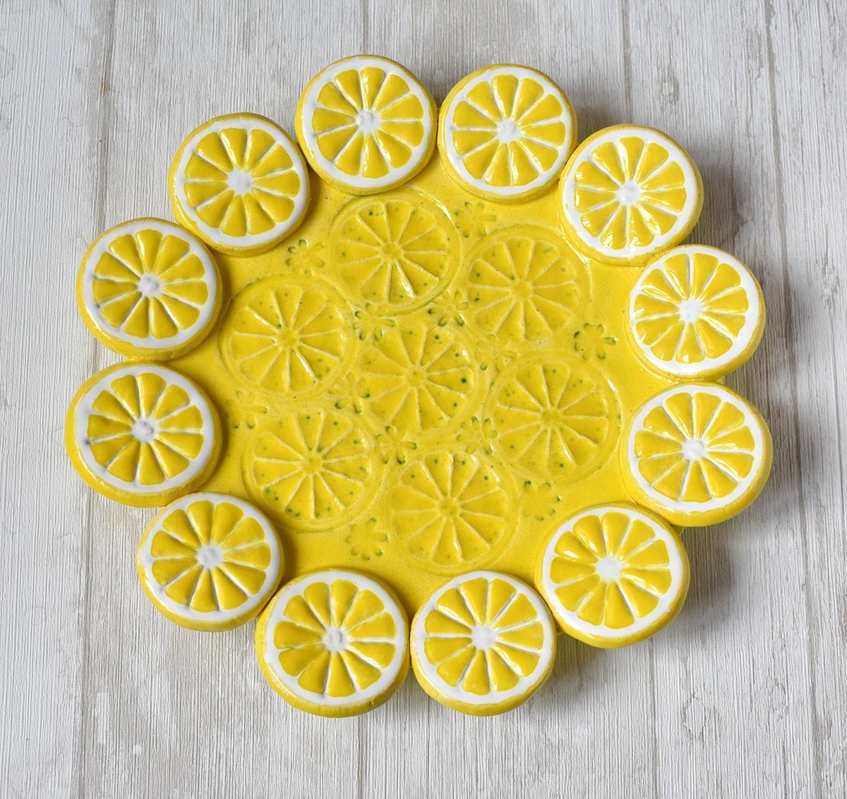 """картинка Тарелка сервировочная """"Лимоны"""" - DishWishes.Ru"""