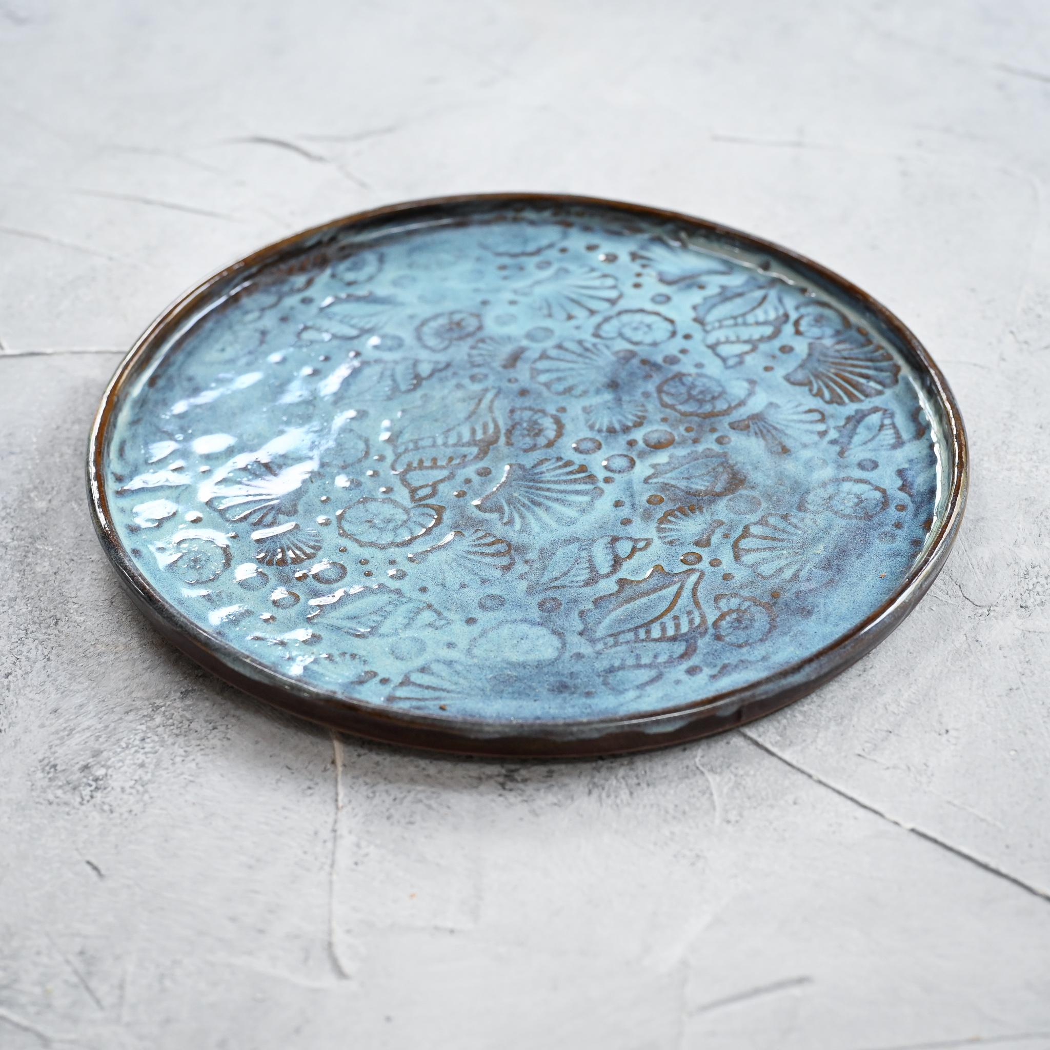 """картинка Керамическая тарелка """"Морское дно"""" 2 - DishWishes.Ru"""