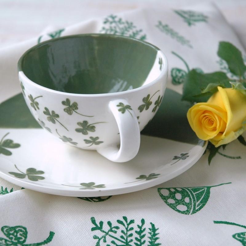 "картинка Чайная пара ""Клевер"" - DishWishes.Ru"