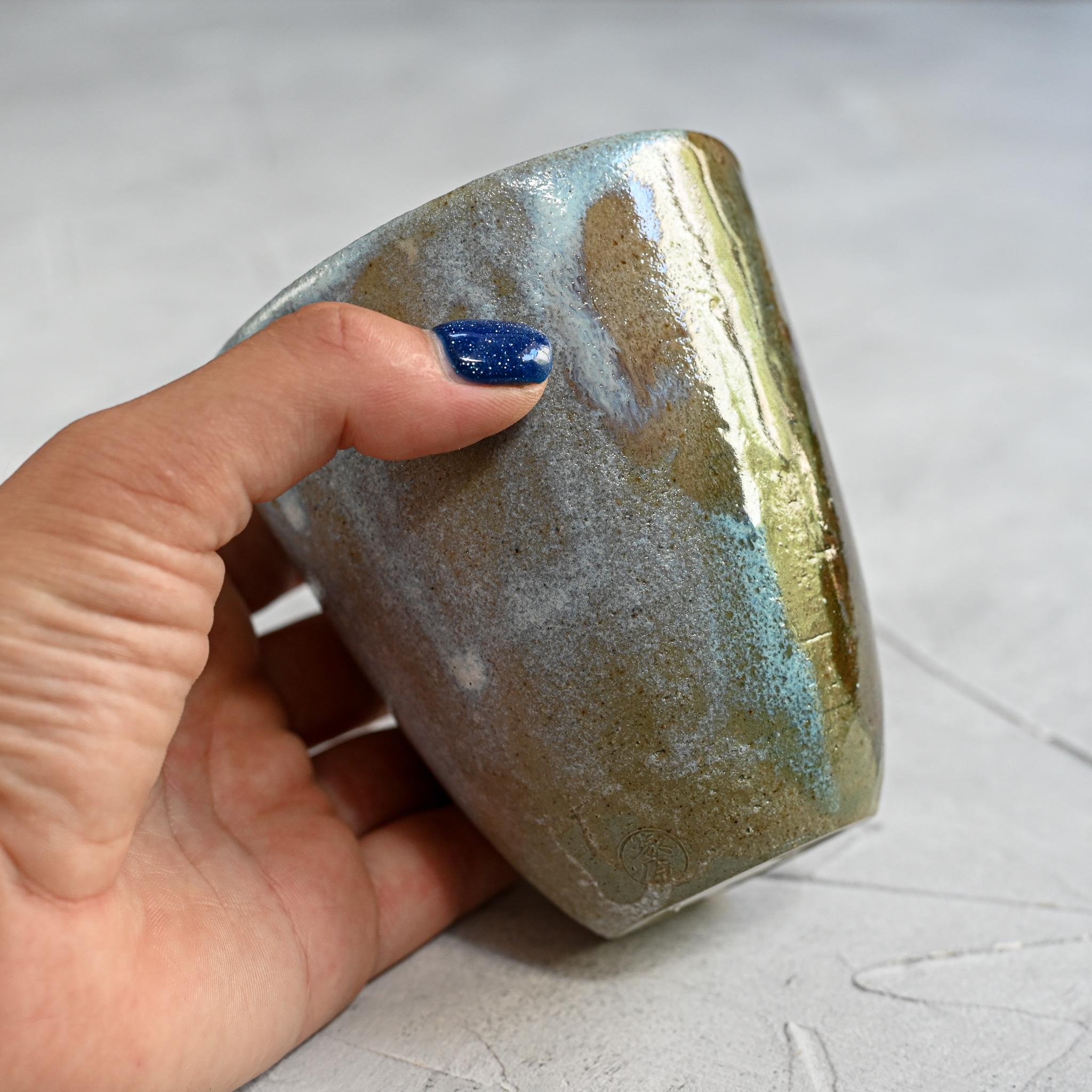 """картинка Керамический стакан """"Япония"""" оливковый 1 - DishWishes.Ru"""