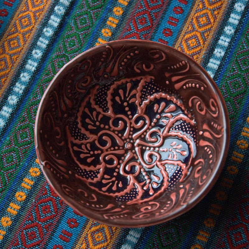 картинка Турецкие тарелки с рельефным рисунком - DishWishes.Ru