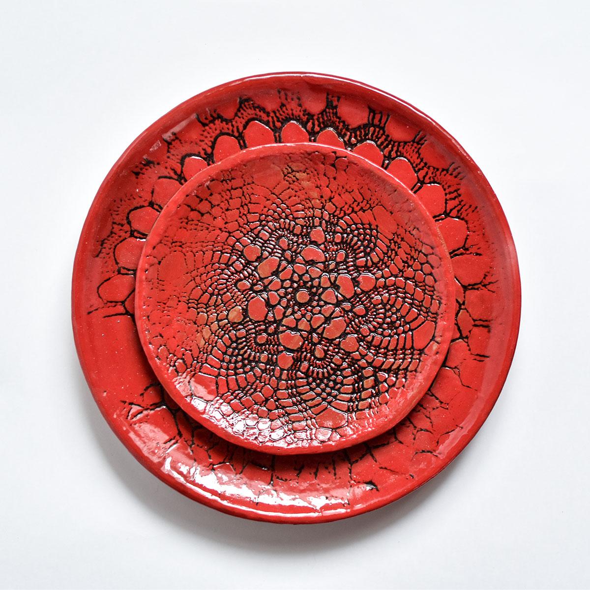 """картинка Кружевное блюдце ручной работы """"Огонь"""" 5 - DishWishes.Ru"""