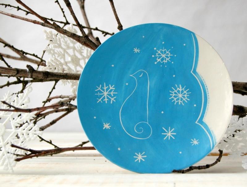 картинка Зимняя тарелка - DishWishes.Ru