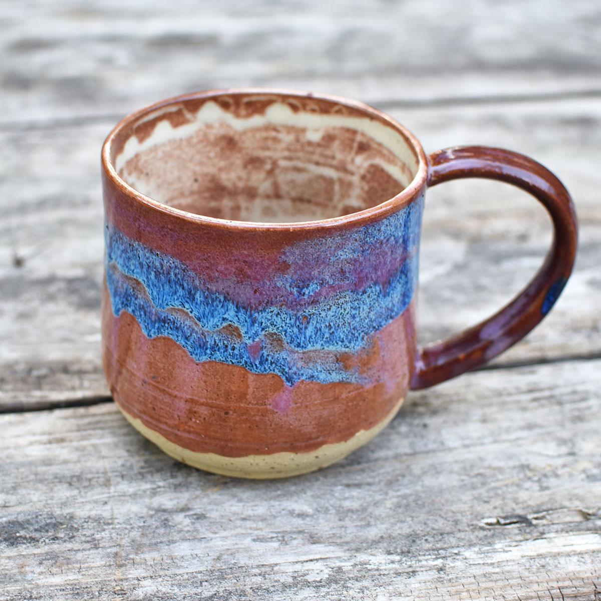 """картинка Большая чашка ручной работы """"Мунк"""" - DishWishes.Ru"""