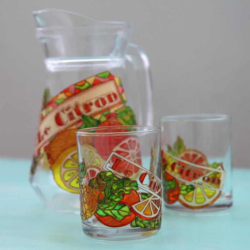 """картинка Кувшин и стаканы """"Le Citron"""" - DishWishes.Ru"""