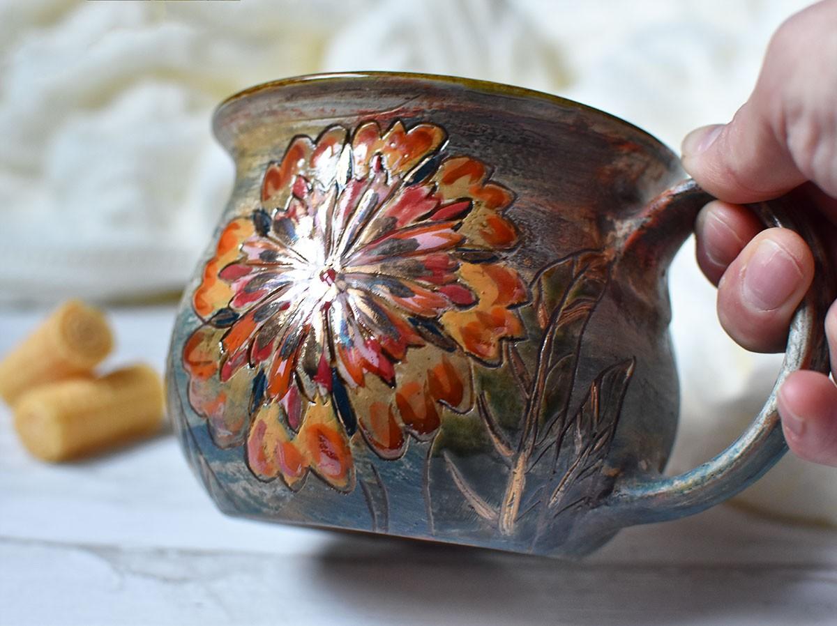 """картинка Большая кружка """"Аленький цветочек"""" - DishWishes.Ru"""