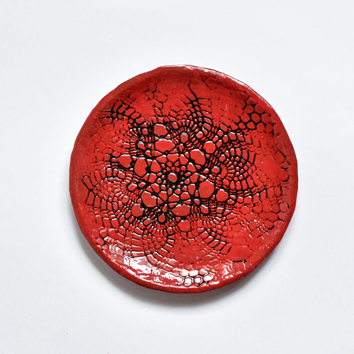 """картинка Кружевное блюдце ручной работы """"Огонь"""" 6 - DishWishes.Ru"""