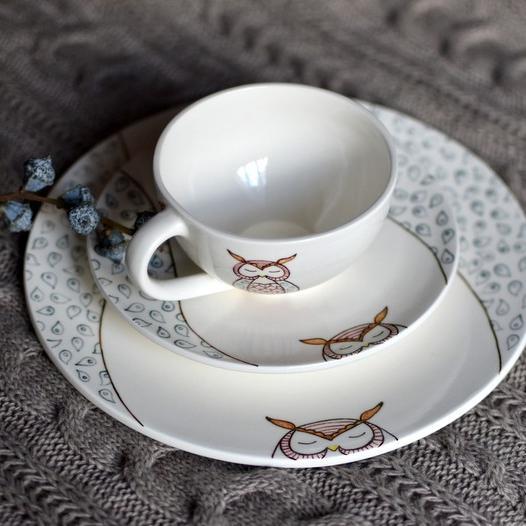 "картинка Чайная пара ""Совушка"" - DishWishes.Ru"