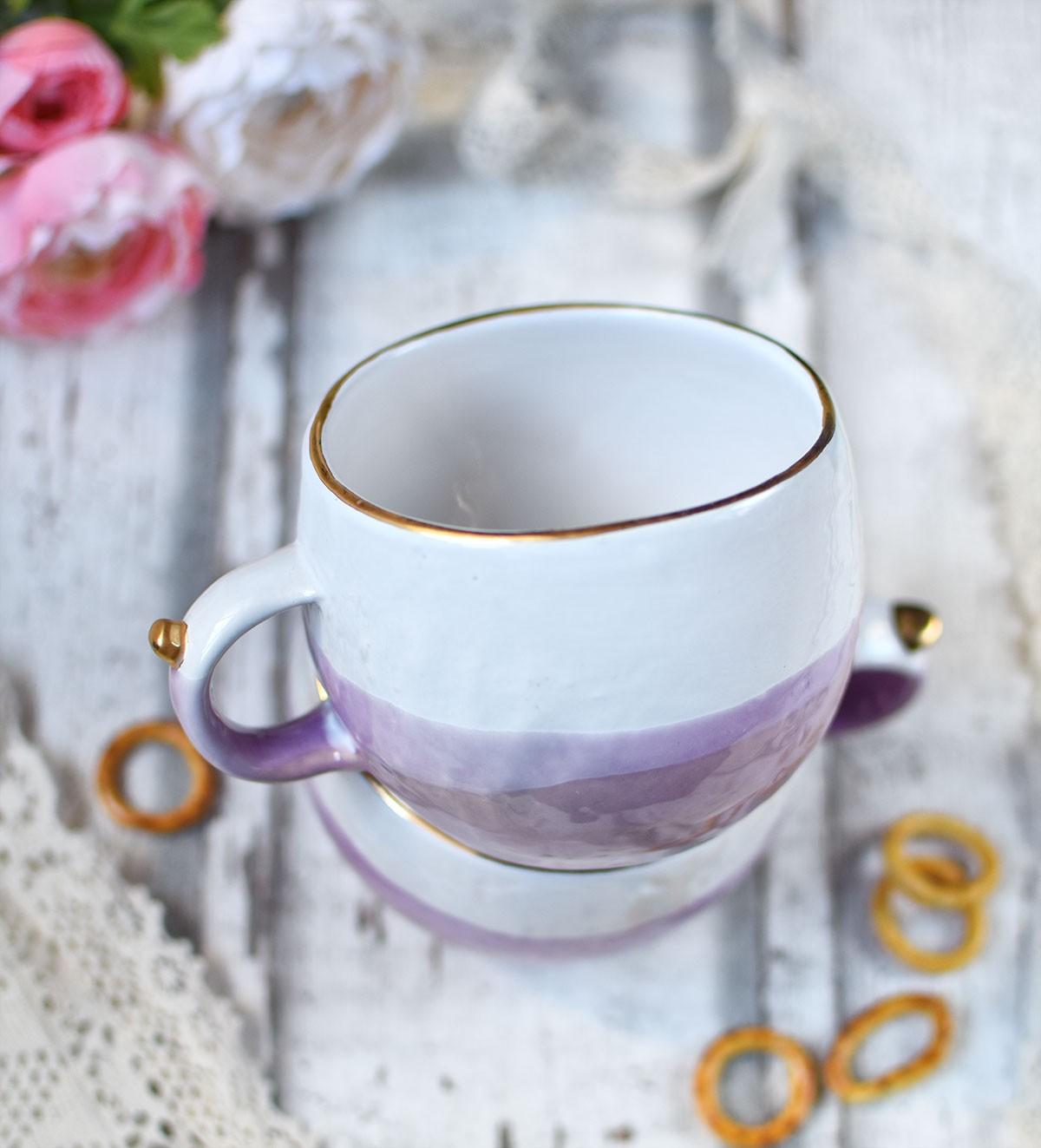 """картинка Чашка ручной работы """"Клубничный коктейль"""" - DishWishes.Ru"""