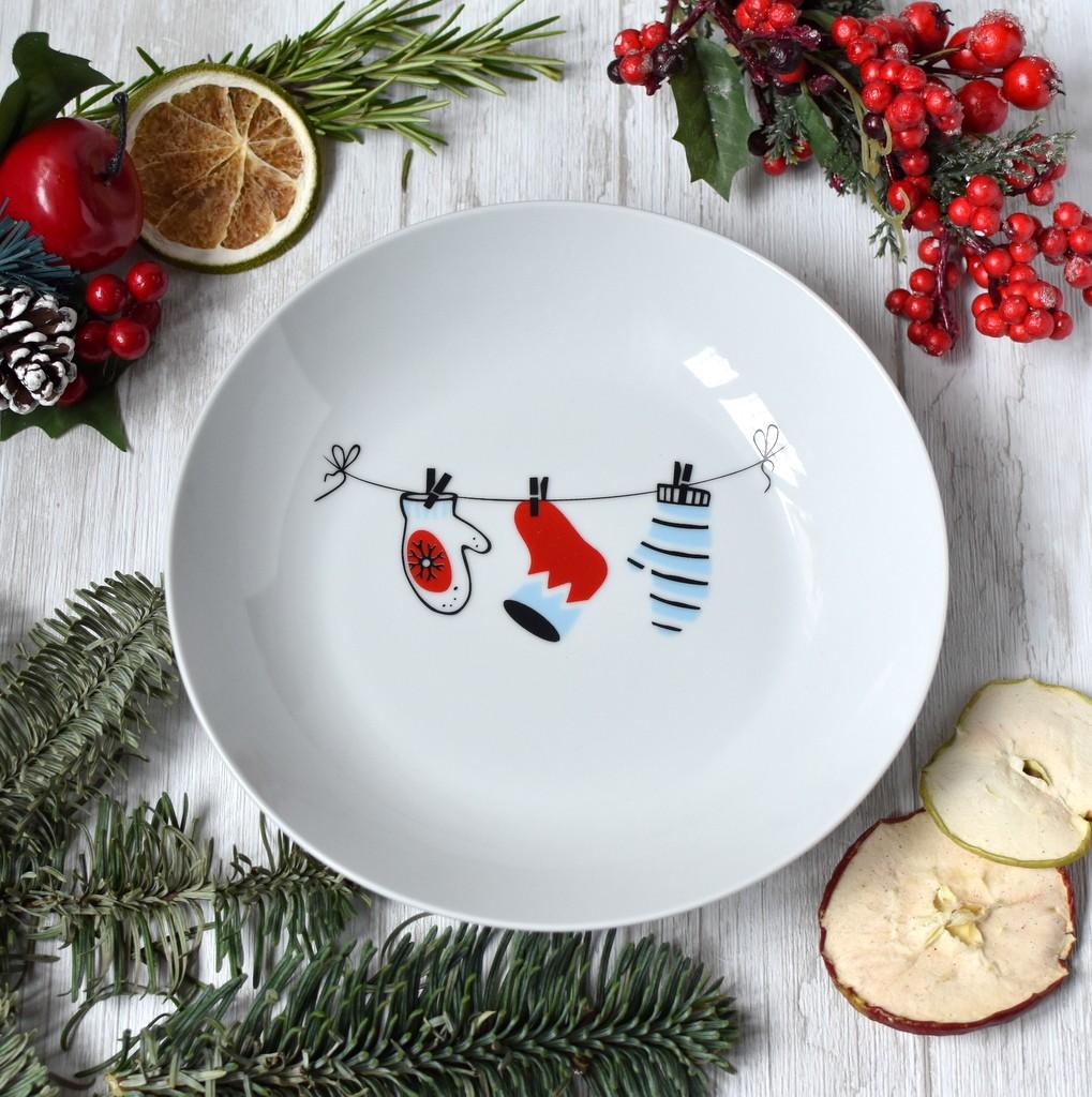 """картинка Тарелка """"Новогодняя гирлянда"""" - DishWishes.Ru"""