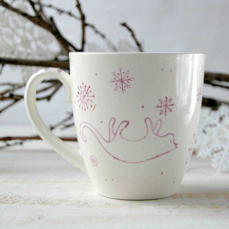 "картинка Чашка ""Снежный кот"" - DishWishes.Ru"