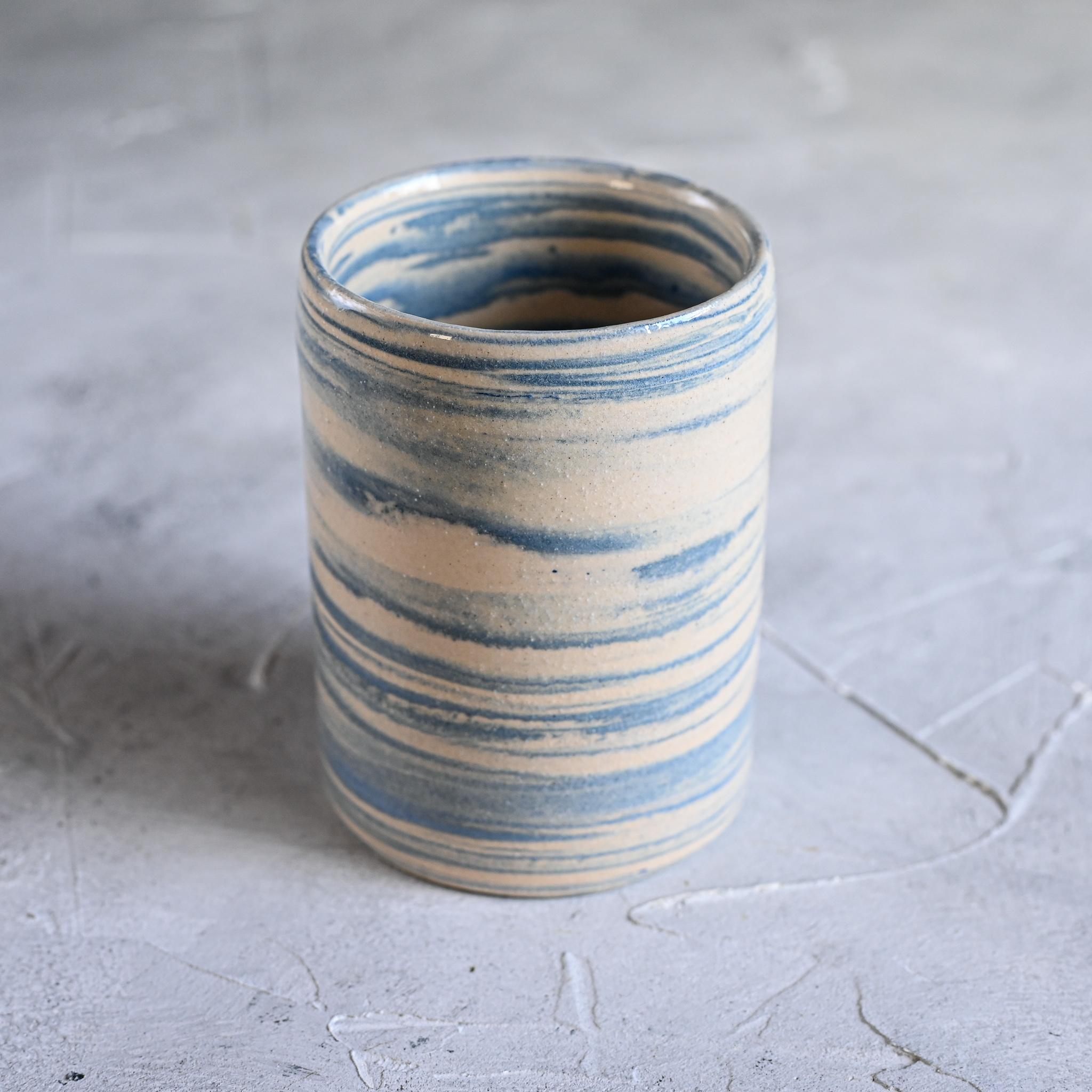 картинка Керамический стакан в технике нерияге 6 - DishWishes.Ru