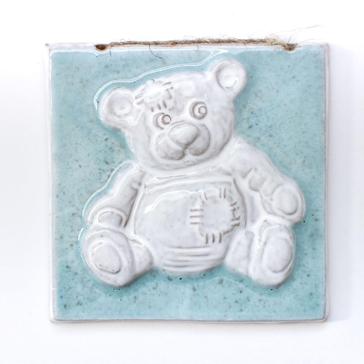 """картинка Изразец ручной работы """"Плюшевый Мишка"""" 2 - DishWishes.Ru"""