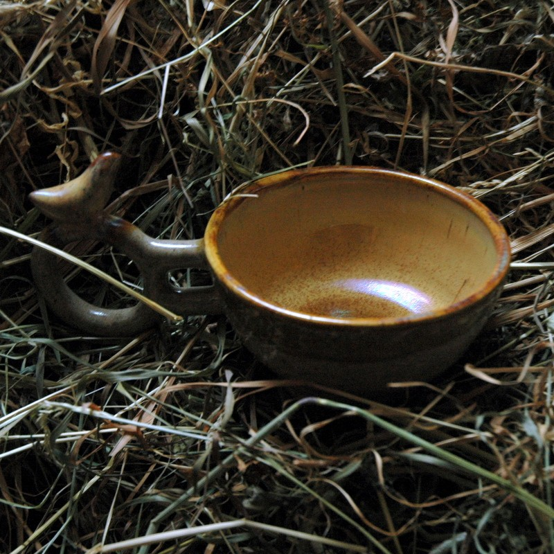 "картинка Чашка с птичкой ""Земля"" - DishWishes.Ru"