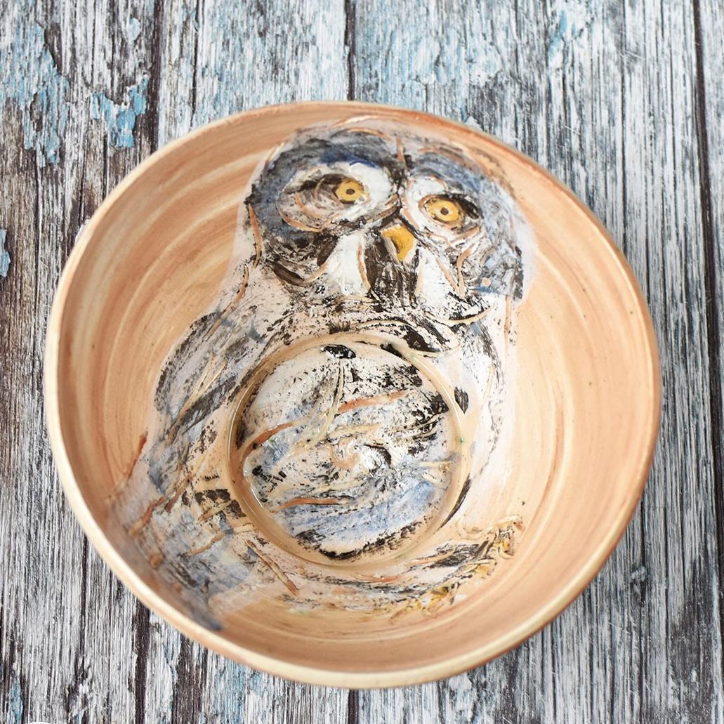 "картинка Керамический салатник ""Сова"" - DishWishes.Ru"