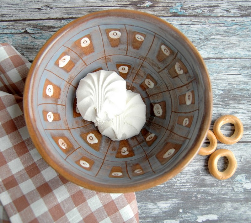 "картинка Керамический салатник ручной работы ""Тартан"" - DishWishes.Ru"