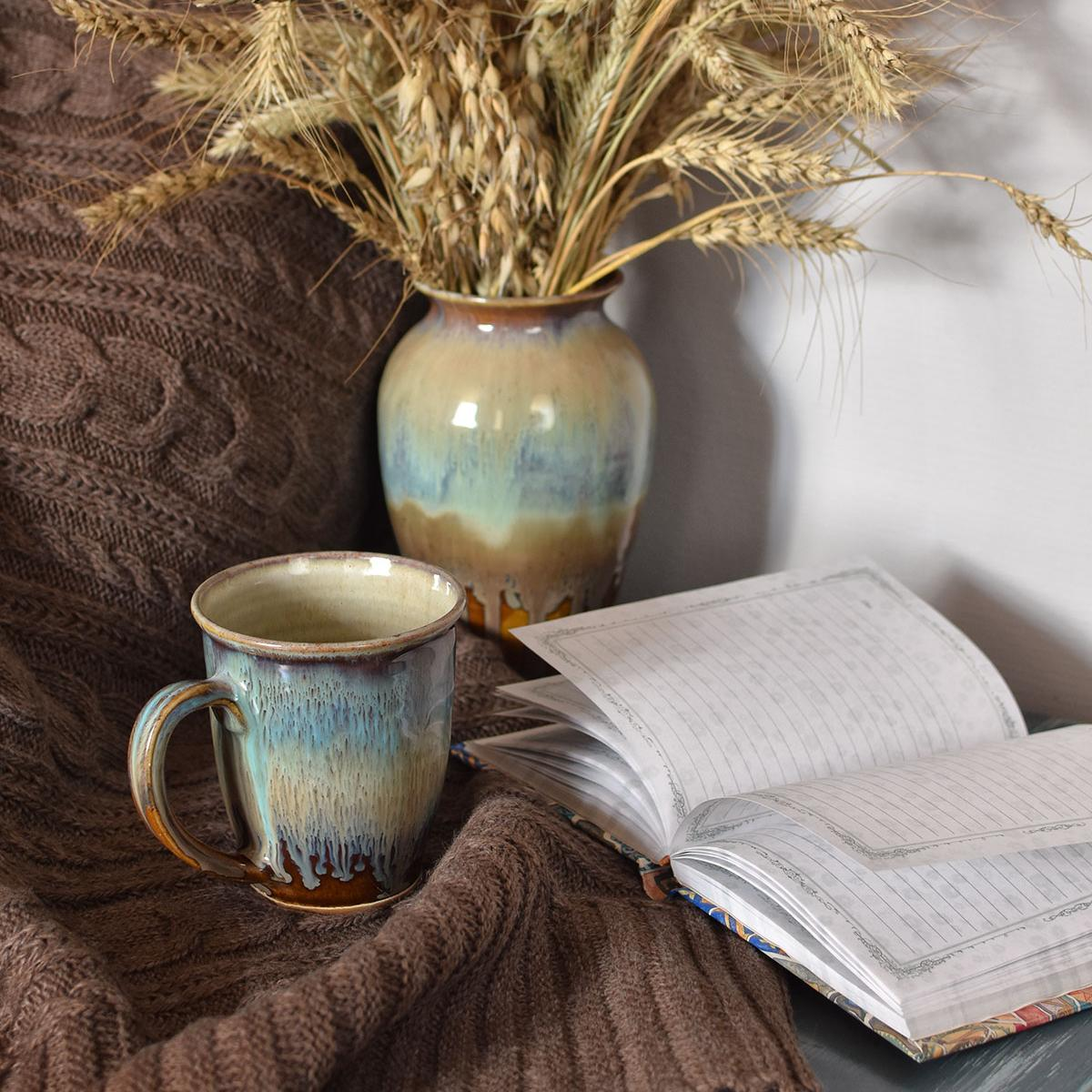 "картинка Вязаный плед ""Кофе"" - DishWishes.Ru"