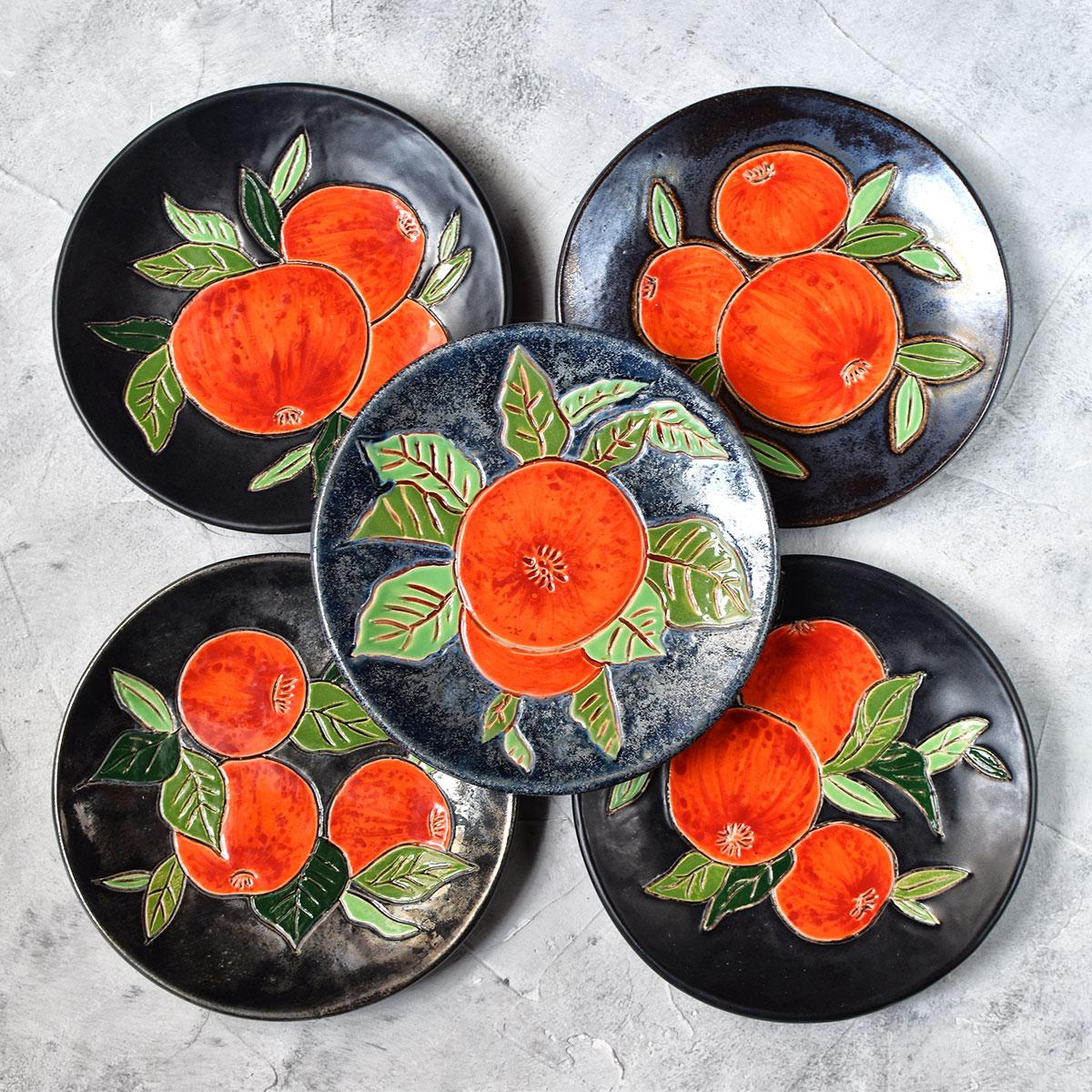 """картинка Керамическая тарелка """"Сочные фрукты"""" - DishWishes.Ru"""