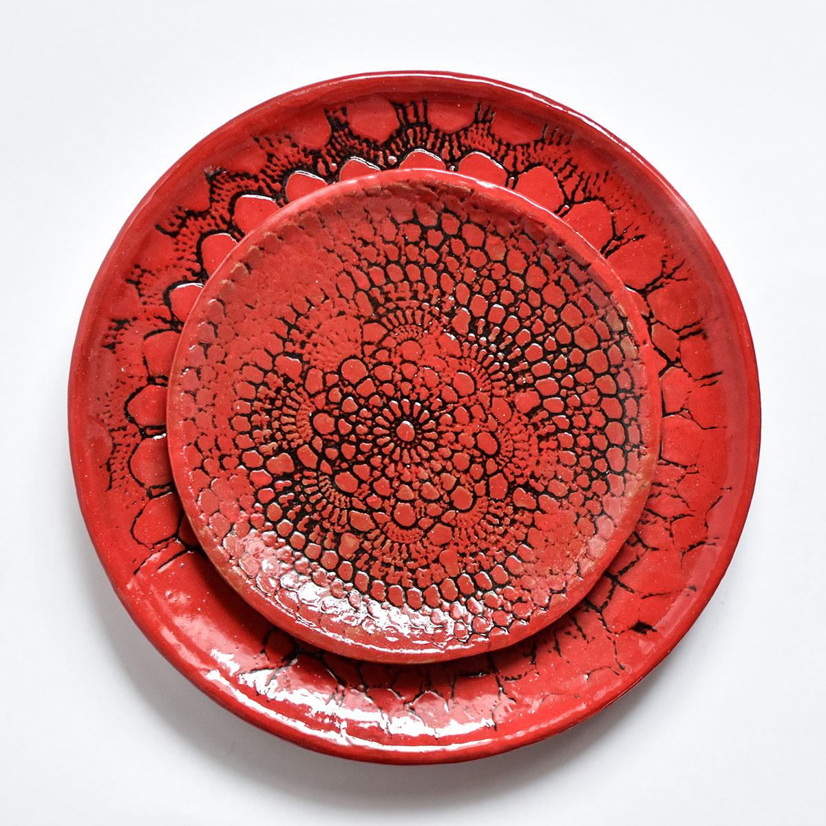 """картинка Кружевное блюдце ручной работы """"Огонь"""" 8 - DishWishes.Ru"""