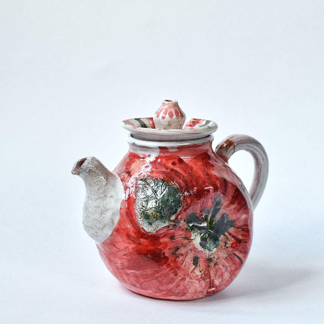 """картинка Керамический чайник ручной работы """"Яблоко"""" - DishWishes.Ru"""
