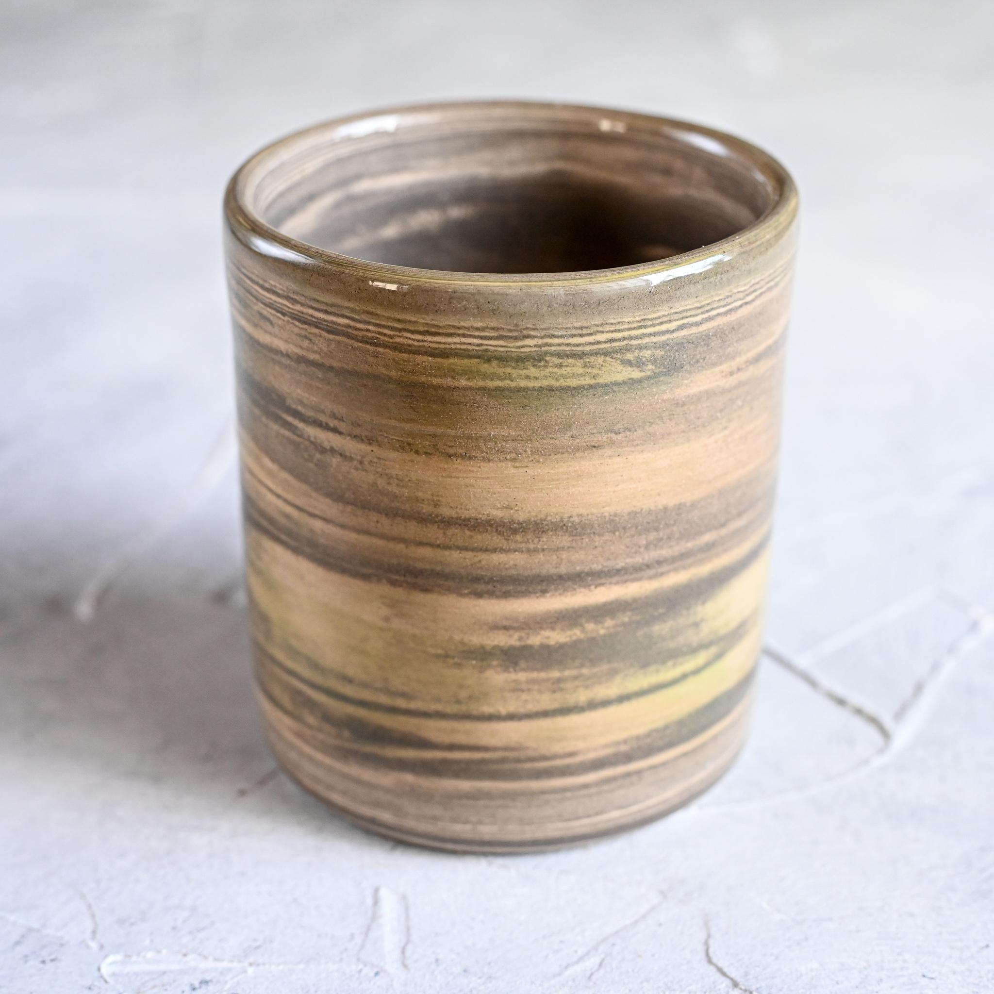 картинка Керамический стакан в технике нерияге 1 - DishWishes.Ru