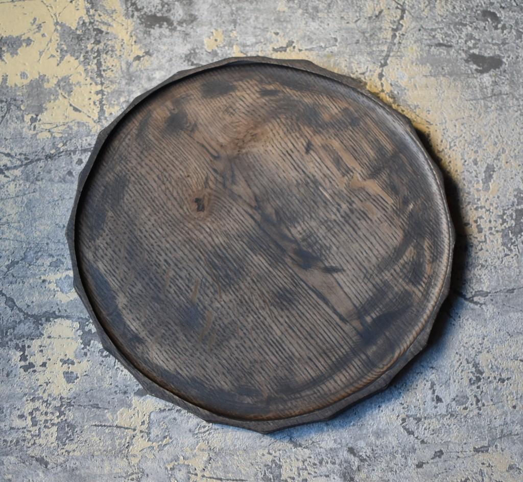 картинка Большой темный поднос из дуба - DishWishes.Ru