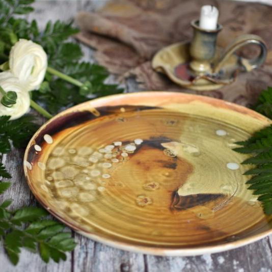 """картинка Большая керамическая тарелка """"Виски"""" - DishWishes.Ru"""