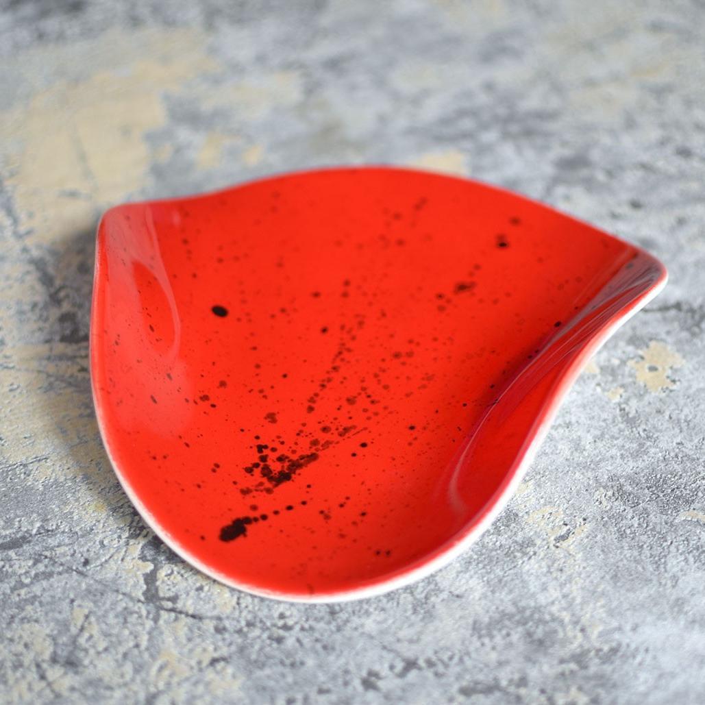 "картинка Бутербродная тарелка ""Красная"" - DishWishes.Ru"