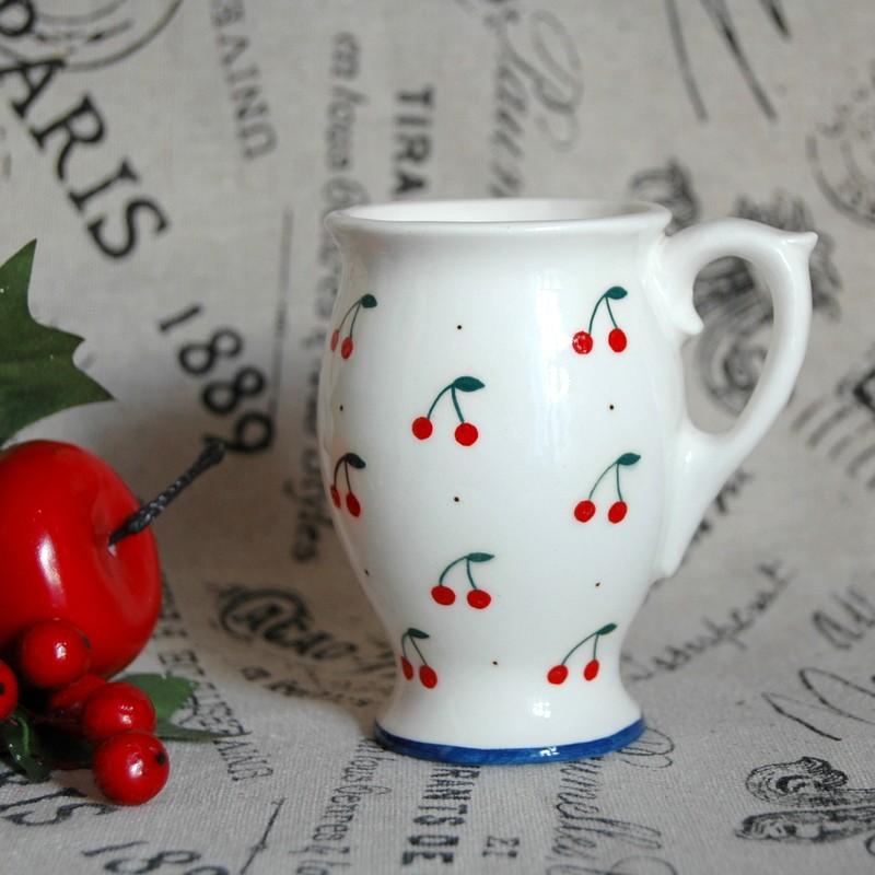 "картинка Кофейная пара ""Вишенки"" - DishWishes.Ru"