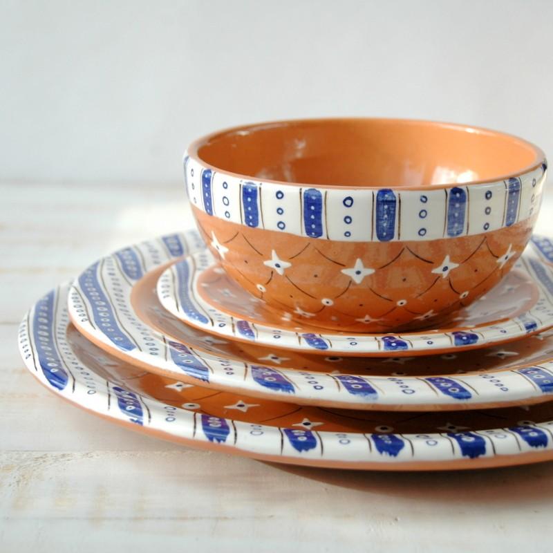 """картинка Блюдце """"Синие полосы и звезды"""" - DishWishes.Ru"""