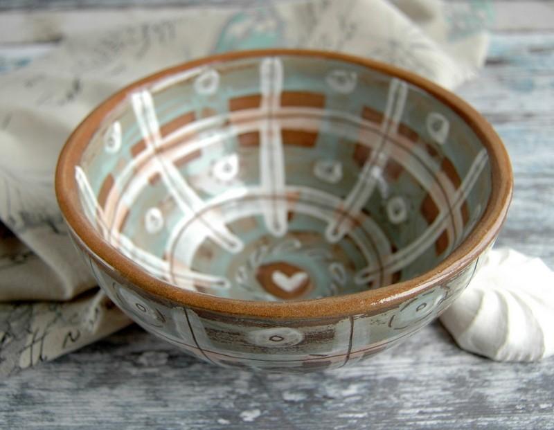 """картинка Керамический салатник ручной работы """"Клетка"""" - DishWishes.Ru"""