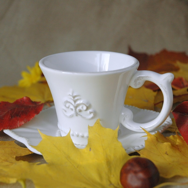картинка Чашка с блюдцем Флер Де Лис - DishWishes.Ru
