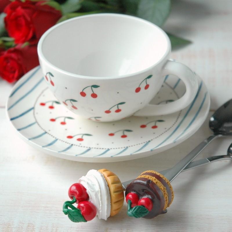 "картинка Чайная пара ""Вишневое настроение"" - DishWishes.Ru"