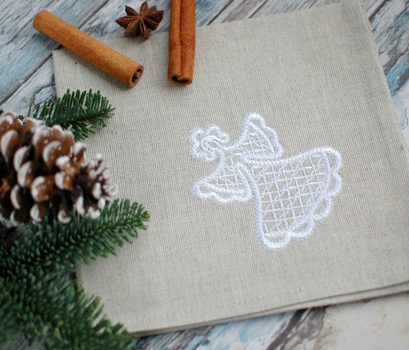 """картинка Салфетка с вышивкой """"Снегурочка"""" - DishWishes.Ru"""