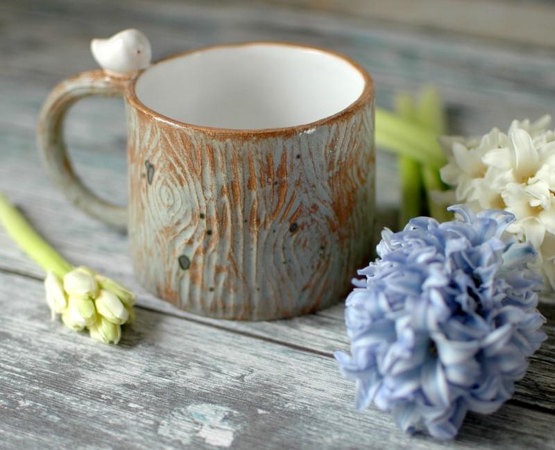 "картинка Керамическая чашка ""Птичка на дереве"" - DishWishes.Ru"