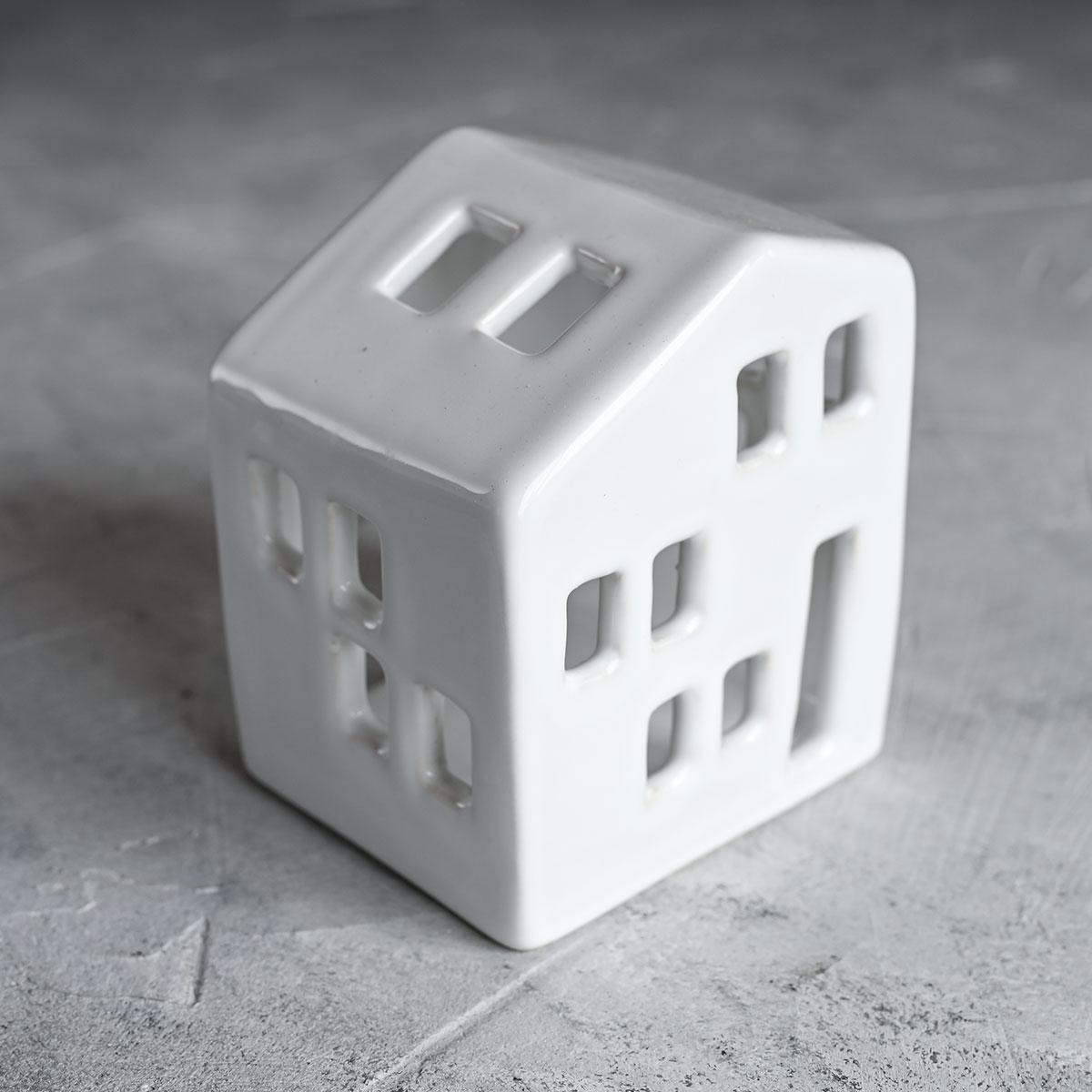 """картинка Керамический подсвечник """"Дом"""" 2 - DishWishes.Ru"""