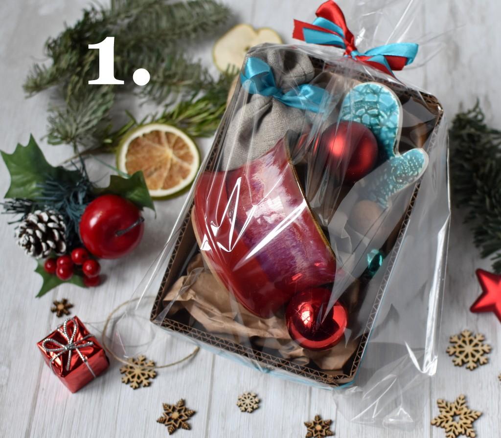 картинка Новогодний набор малый с керамической подвеской - DishWishes.Ru